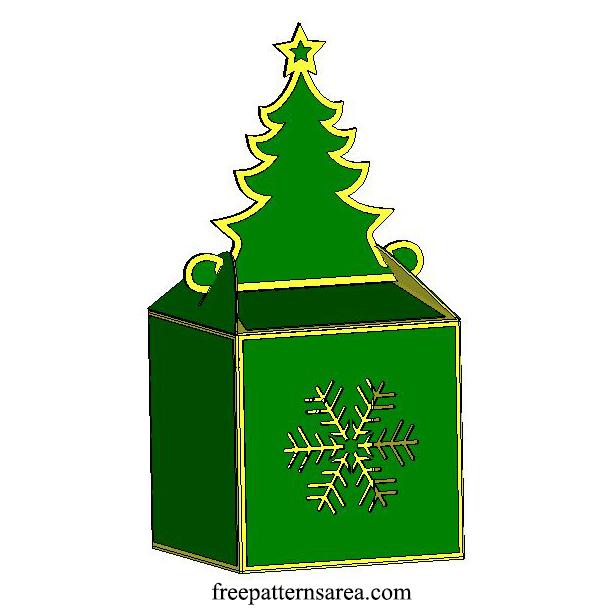 DIY Christmas Paper Box Design for Cricut