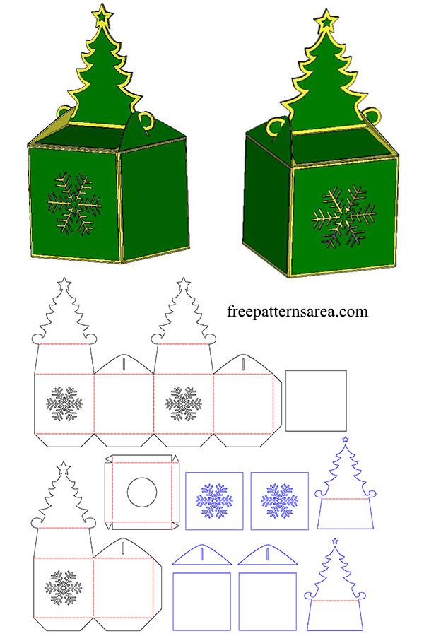 DIY Christmas SVG Box Template For Cricut