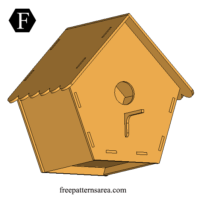 Easy Wooden Bird House Free Laser Cut Project
