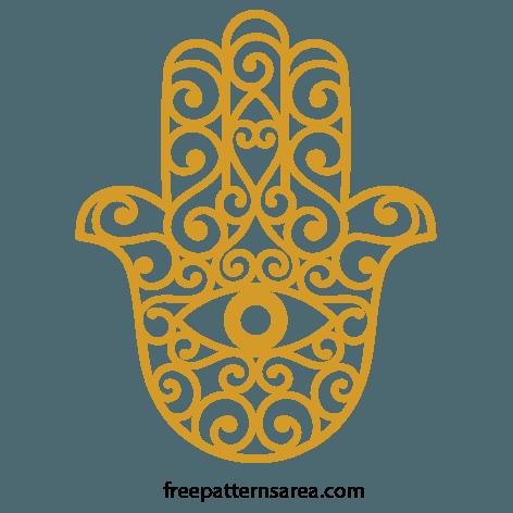 Hamsa Hand Symbol Free SVG File