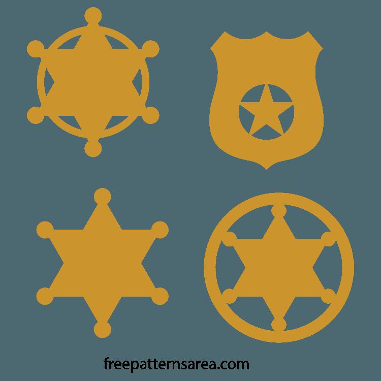 Wood Sheriff Star Badge Laser Cut Files