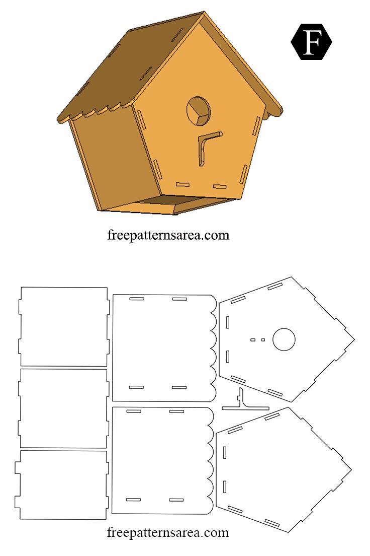 Easy Wooden Bird House Free DIY Plan