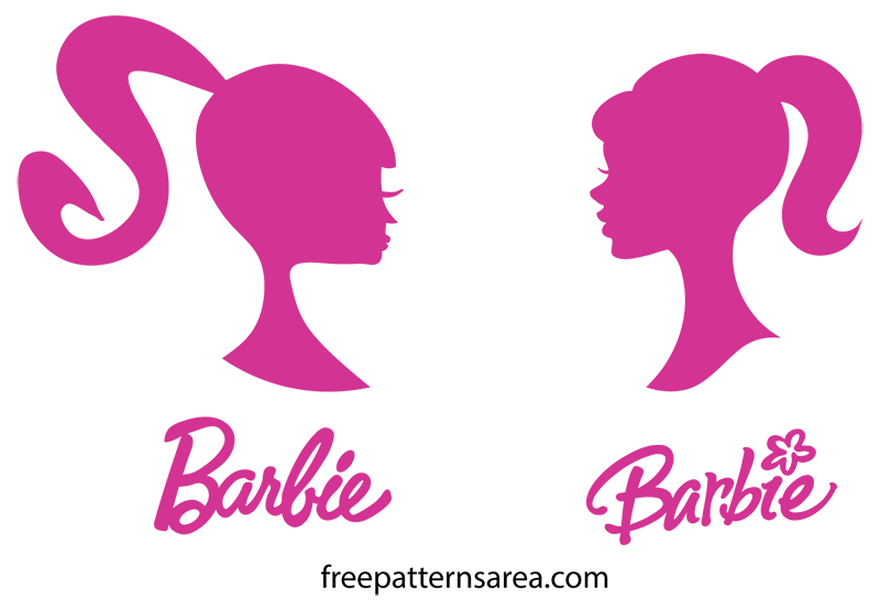 Barbie Silhouette Head Vector Logo Sign Image Clipart