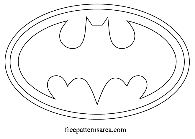 Batman Logo Symbol Outline PDF Cut Pattern