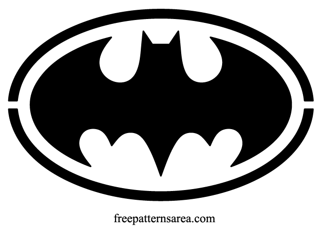 Batman Logo Symbol Sign Stencil Vector
