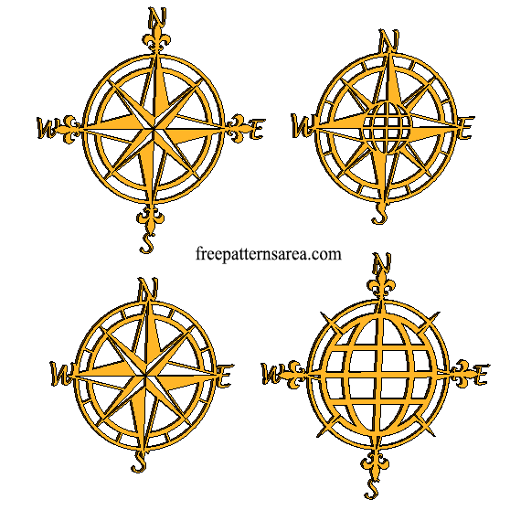 Compass Art Plasma Laser Metal Art Cutting Design