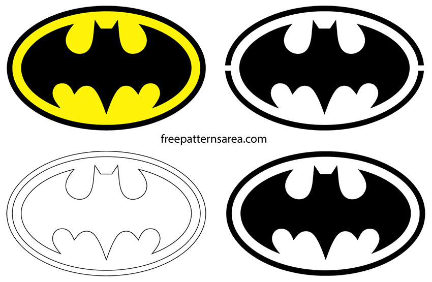 Batman Logo Symbol And Silhouette Stencil Vector Freepatternsarea