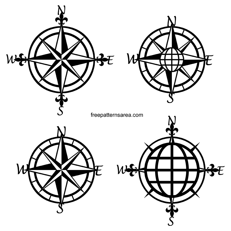Free Vintage Nautical Compass Rose Vector Images