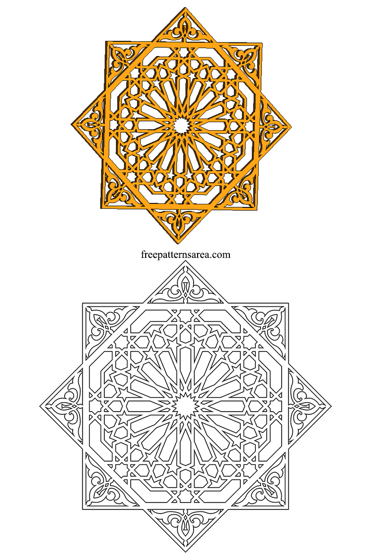 Geometrical Islamic Decorative Tile Pattern