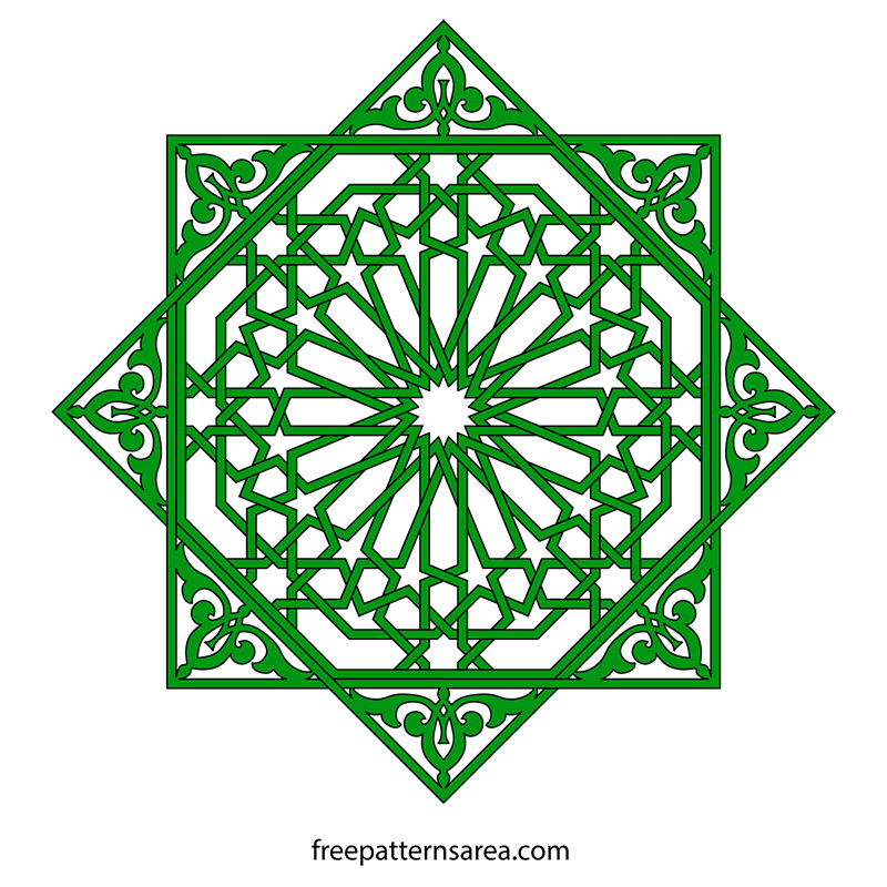 View Larger Image Geometrical Islamic Art Ornament Vector