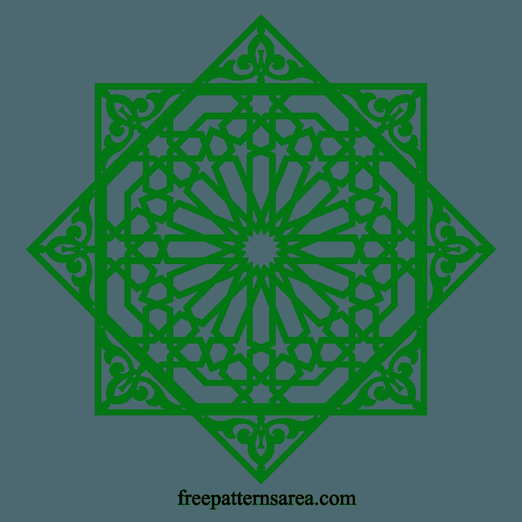 Islamic Arabic Geometric Shapes Tile Art