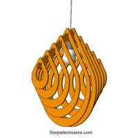 Plywood Chandelier For Laser Cutter Machine