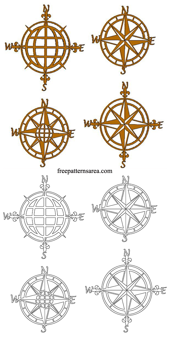 Wooden Compass Rose Cut Out Pdf Patterns