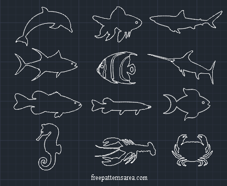 Fish Drawing Free Autocad Dxf Dwg Files