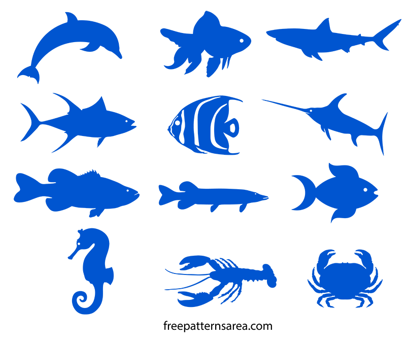 fish silhouette patterns pictures to pin on pinterest Trout Clip Art Black and White Trout Fish Clip Art Printable