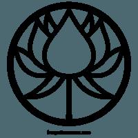 Lotus Circle Flower Symbol Vector Images Designs