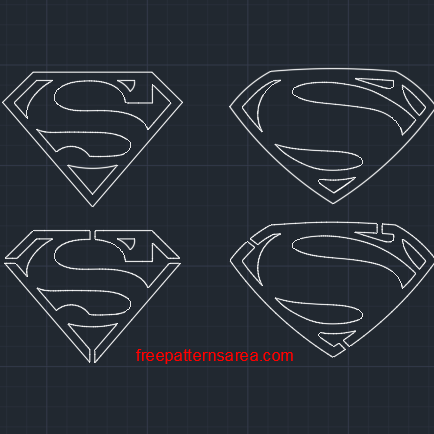 Superman Autocad DXF, DWG Files