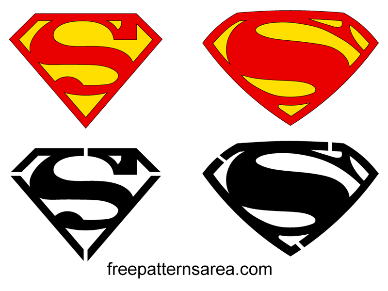 Batman vs Superman Sign Logo Vector Design | FreePatterns Area