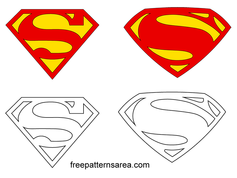 Superman Logo Symbol Free SVG File