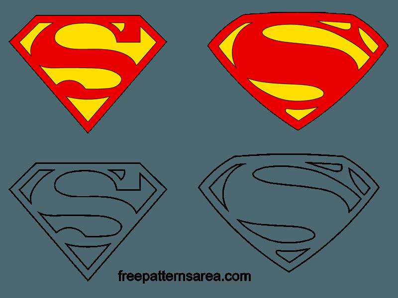 Batman vs Superman Sign Logo Vector Design : FreePatterns Area