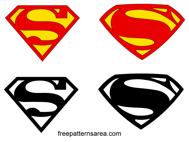 Superman Logo Symbol Vector