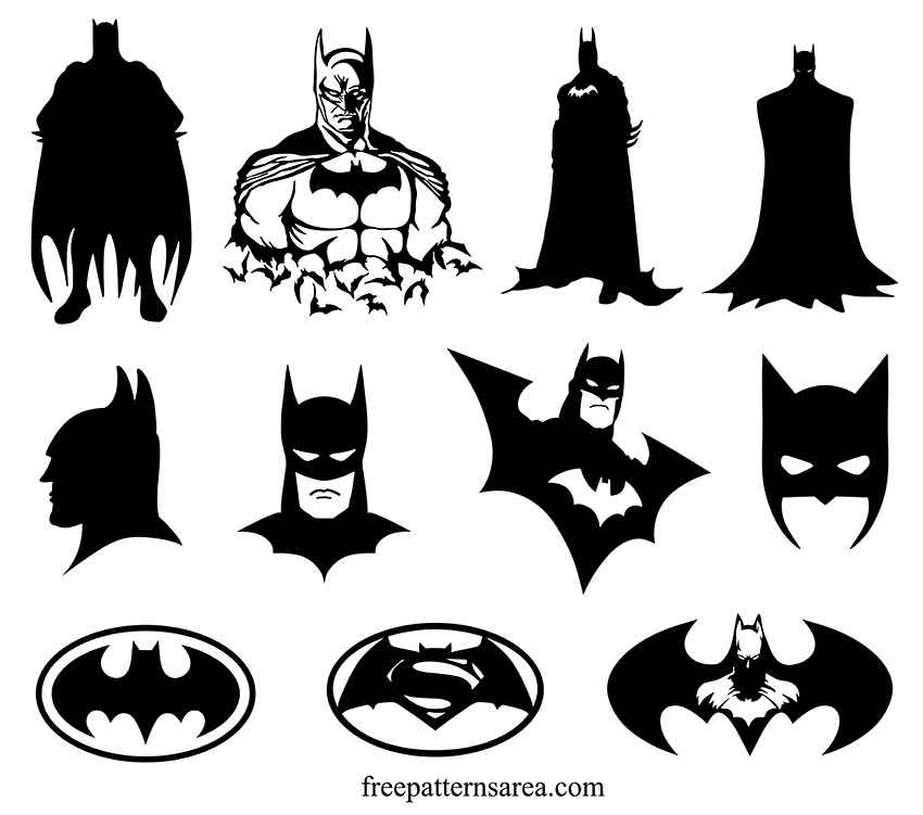 Black And White Batman Silhouette Vector Design