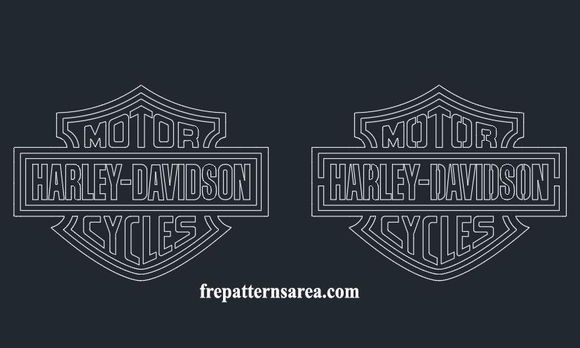 graphic about Printable Harley Davidson Logo identify Harley Davidson Brand Stencil Vector FreePatternsArea