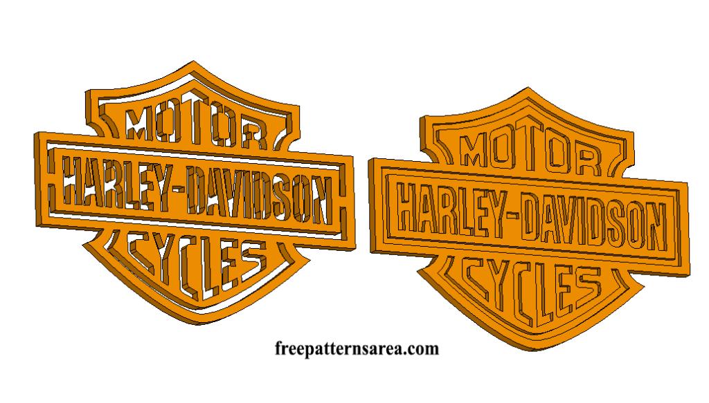 Harley Davidson Logo Stencil Vector | FreePatternsArea