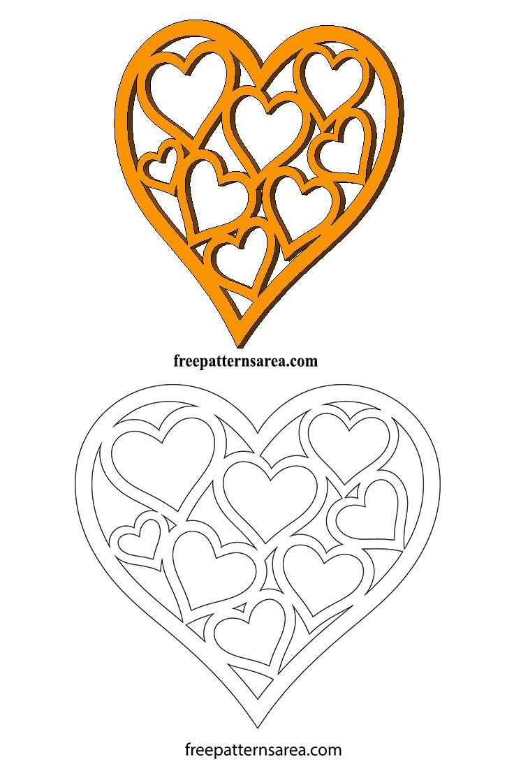 Heart Laser Cut Scroll Saw Template