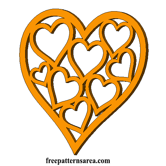 Heart Love Laser Cut Template Free Download