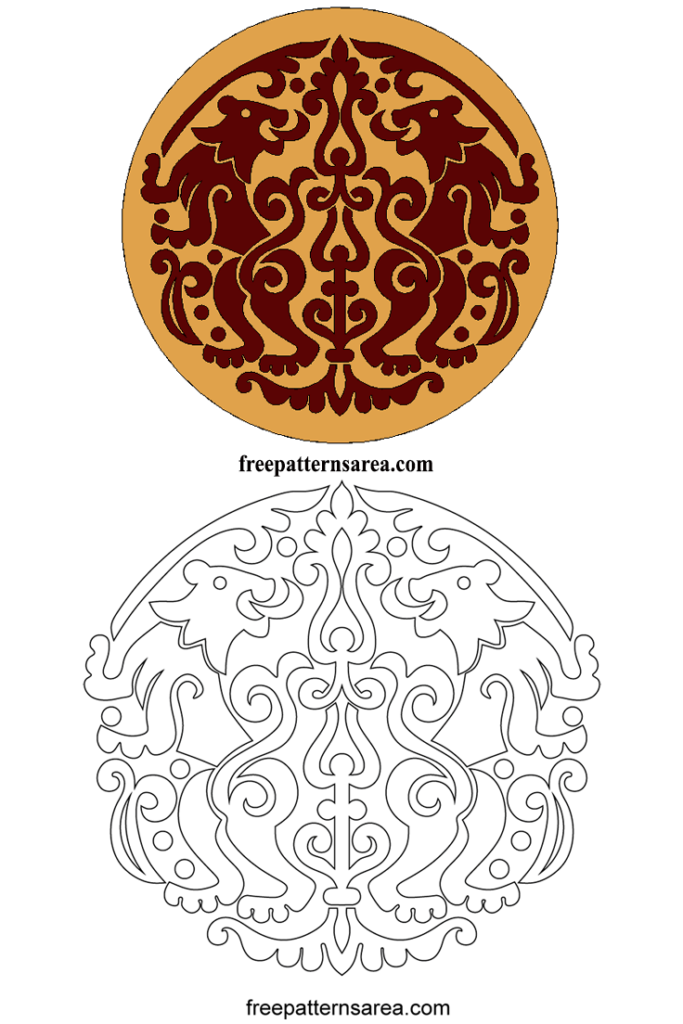 Lions Vector Designs For Laser Engraving Machine