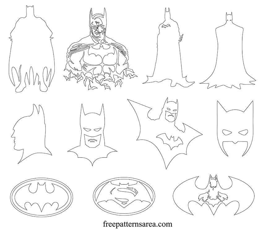 Printable Batman Outline Pdf Template