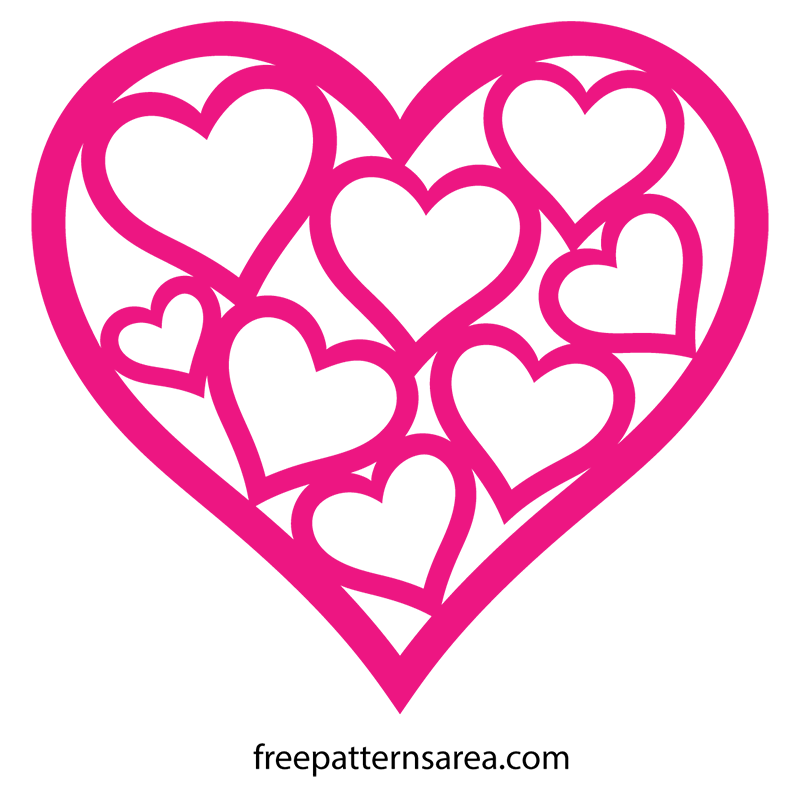 Love Heart Silhouette Free SVG Cutting Files