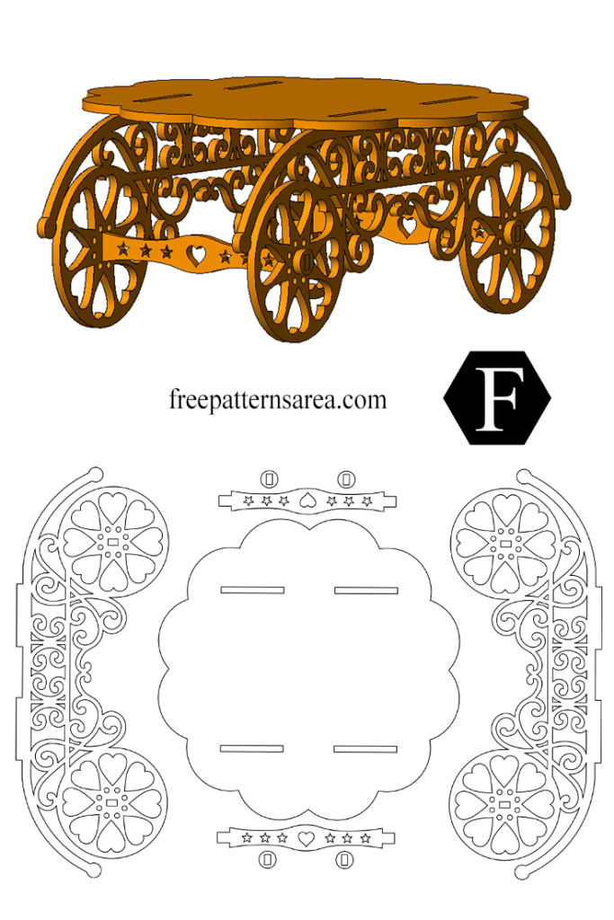 Wooden Cupcake Stand Printable Free Scroll Saw Art Pattern