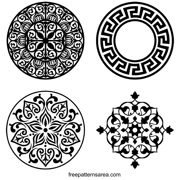 Circle Ornament Vector DXF Patterns