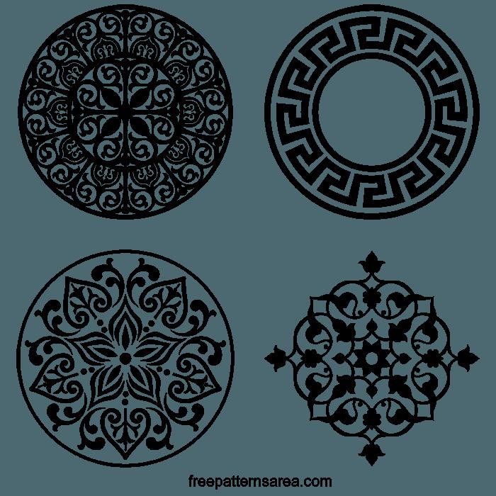 Wood Laser Cut Ornament Art Pattern