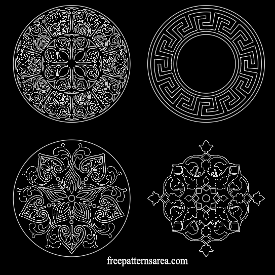 Free Ornament Autocad dxf dwg Design Files