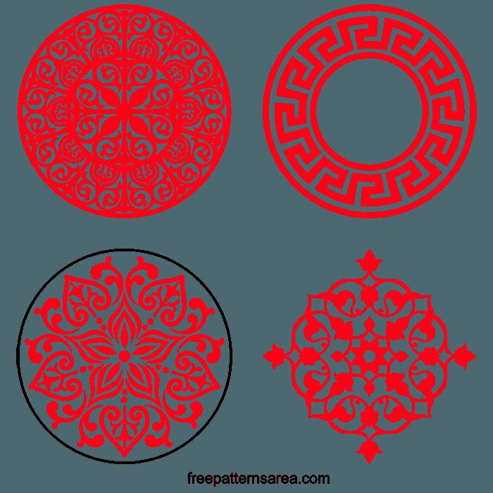 Floral Ornament 3D Free Laser Cut Pattern