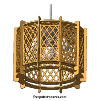 Laser Cut Wood Plywood Lamp Shade Ilustrator Drawing Free