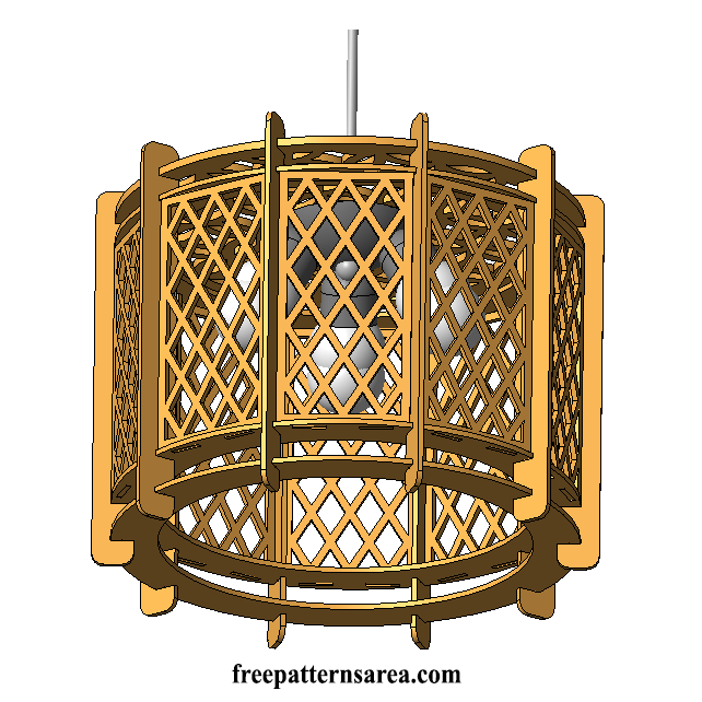Laser Cut Wood Plywood Lamp Shade Ilustrator Drawing Free