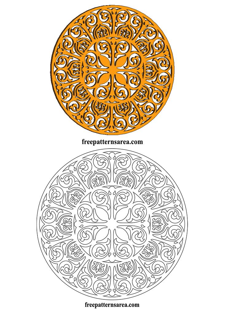 Round Ornament Digital Laser Cutting Die Cut Template Files