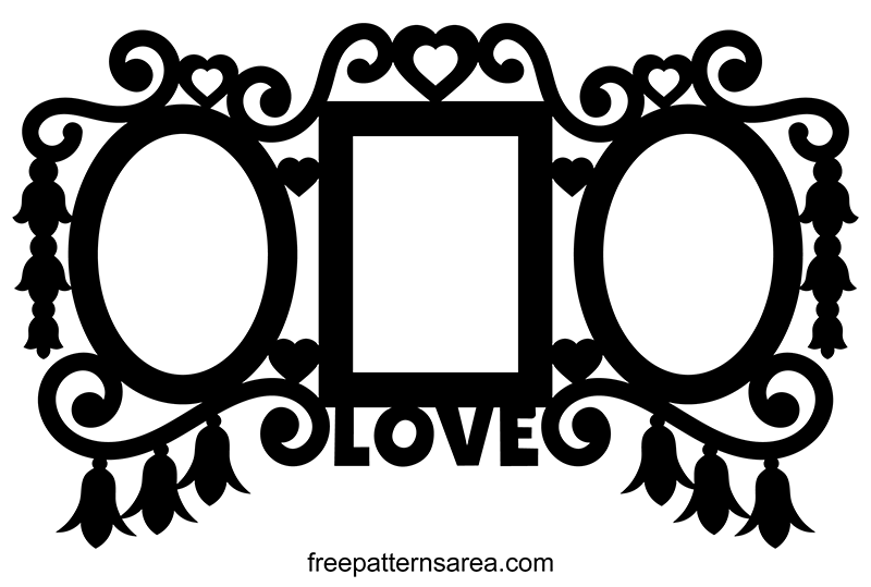 Triple Wall Picture Frame Clipart Vector