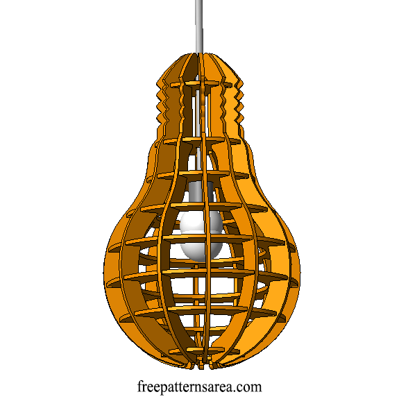 Bulb Shaped Laser Cut Industrial Mdf Lamp Design Idea