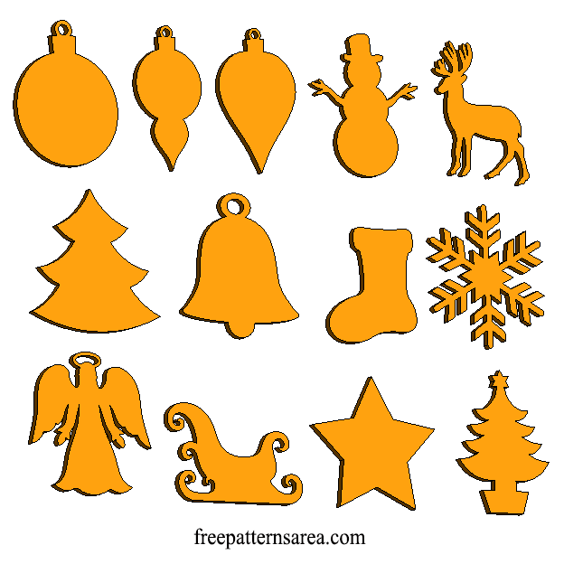 Laser Cut Christmas Unfinished Wood Shapes