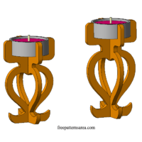 Plywood Candle Holder Laser Cutter Ideas