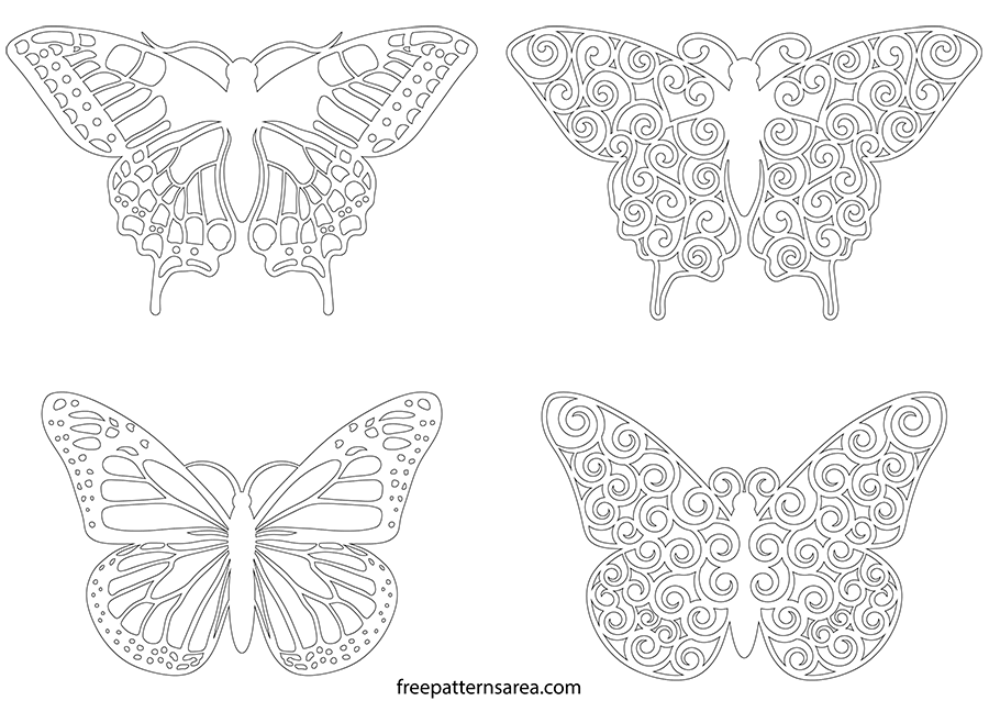 Printable Butterfly Outline Templates
