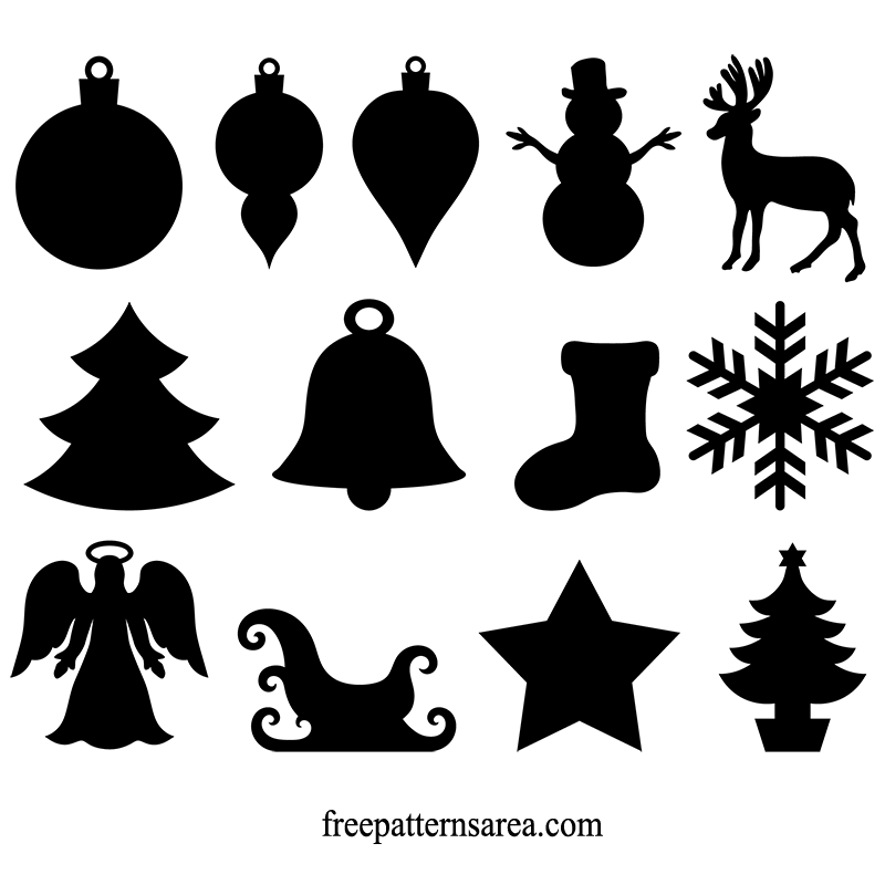 Christmas Silhouette.Winter And Christmas Ornament Vector Freepatternsarea