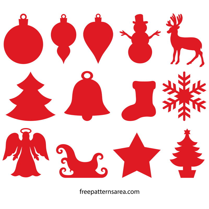 Winter Christmas Silhouette Ornament SVG Images