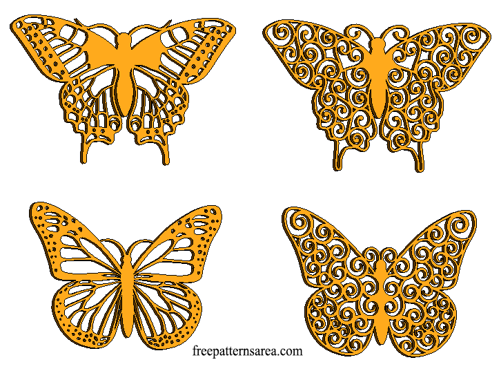 Laser Cut Butterfly Craft Cutting Designs
