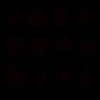 Black Leaf Vector Shapes